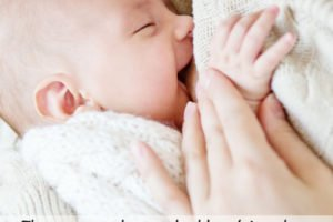 A breastfeeding baby - pin image for How to breastfeed a baby - a collection of the most helpful advice from moms who want you to succeed at breastfeeding your newborn and beyond | www.sahmplus.com