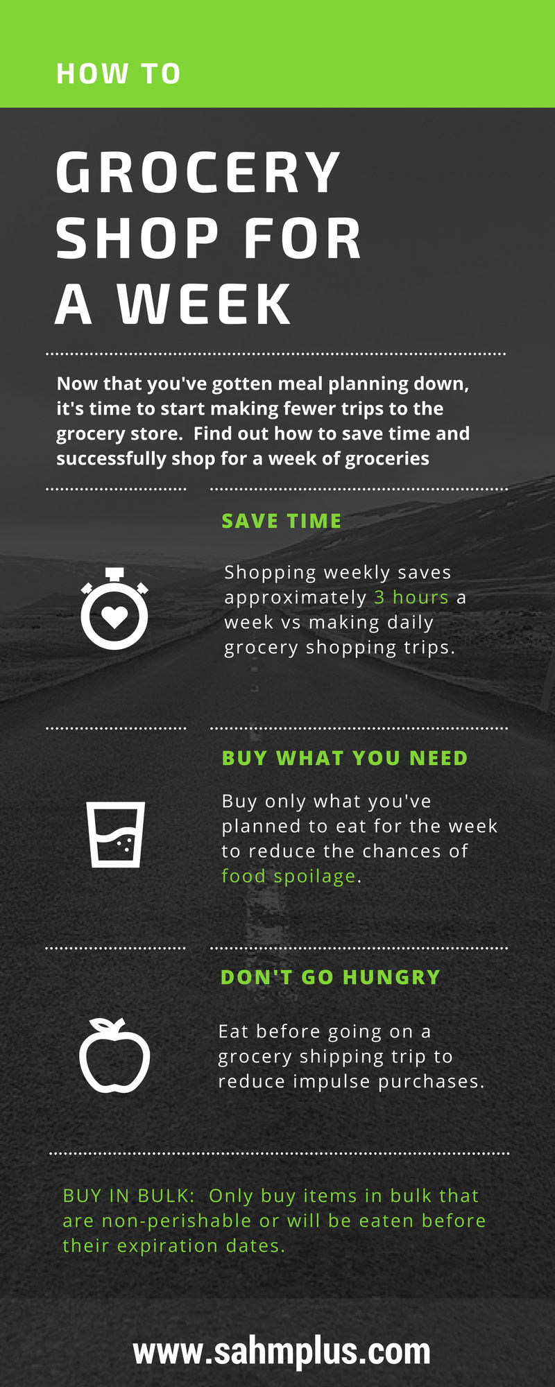How to grocery shop for a week