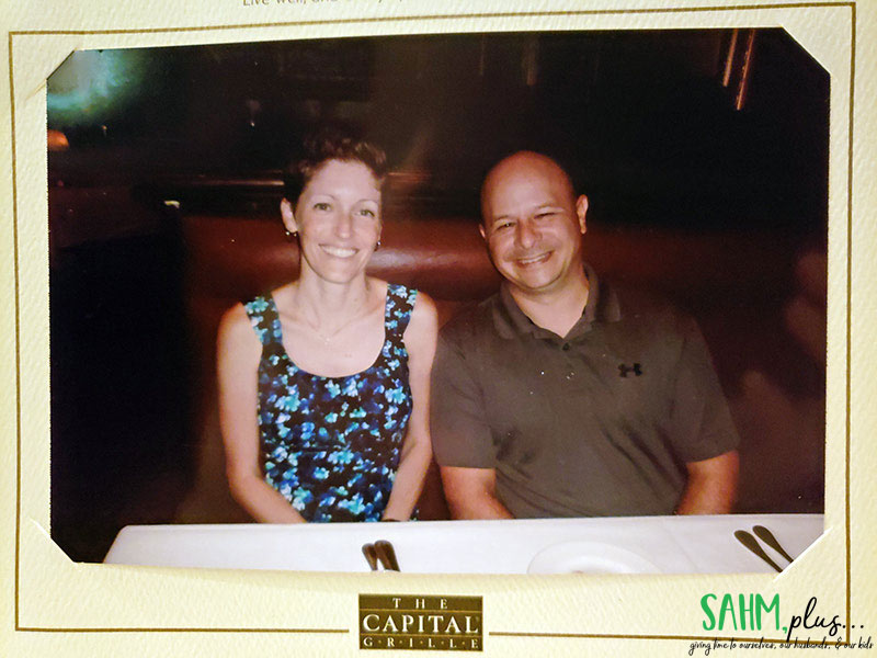 Our anniversary photo at The Capital Grille
