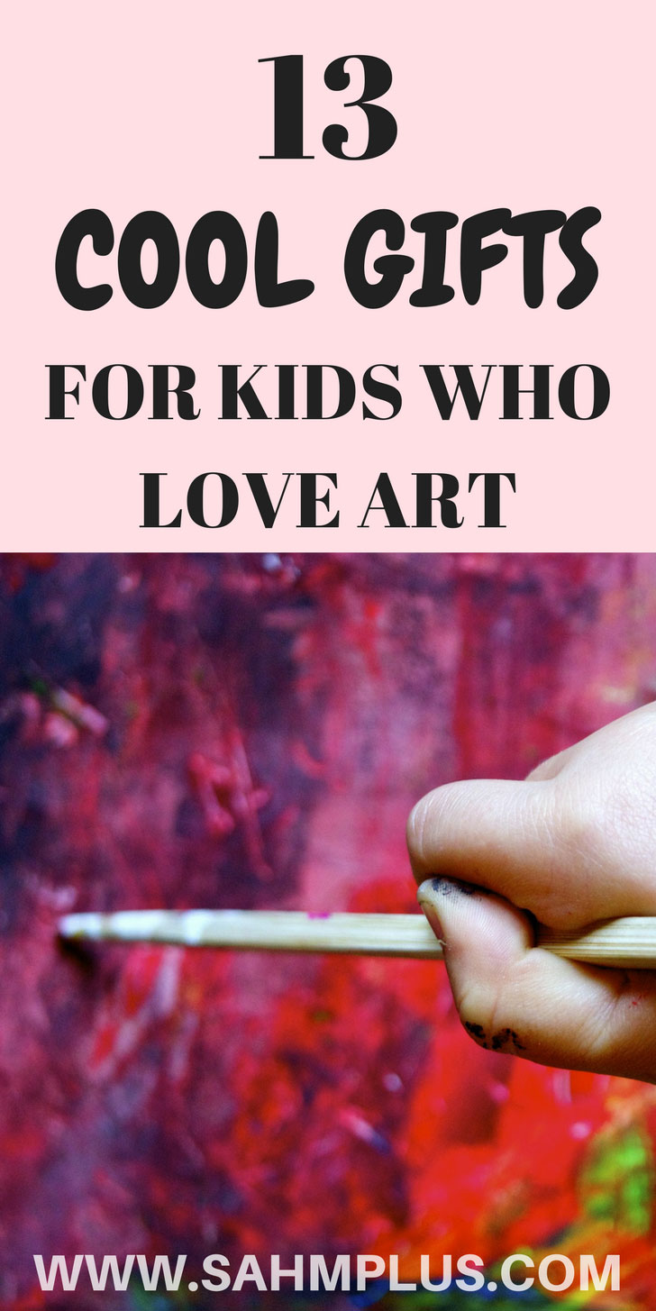 Great gifts for children with artistic interests. If your kid loves art, they'll love these awesome art gift ideas | www.sahmplus.com