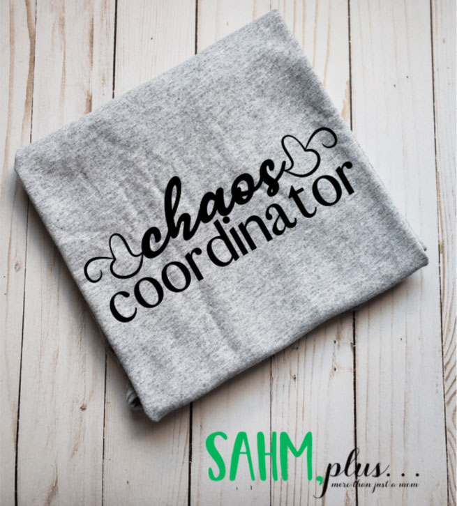 Chaos coordinator mom t-shirt makes a great Mother's Day gift