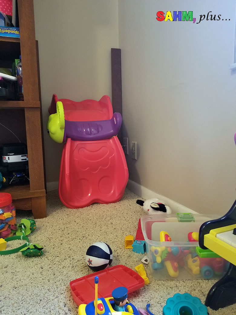Busy mom's holiday cleaning tips. Move and organize to make room for more holiday gifts - clean behind items that have been in the room a long time