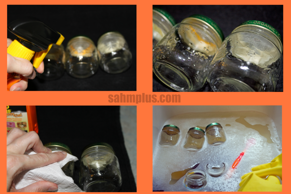 cleaning jars with goo gone
