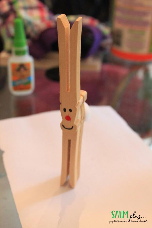 easy clothespin rudolph craft for kids