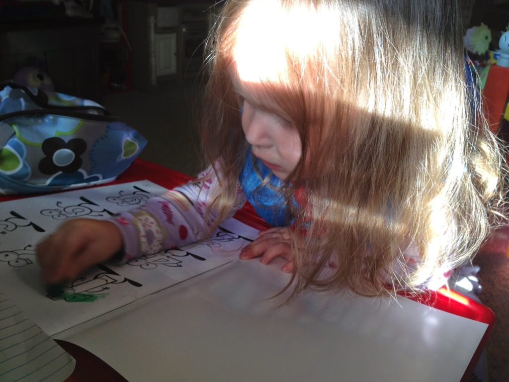 coloring in the dino lingo coloring book