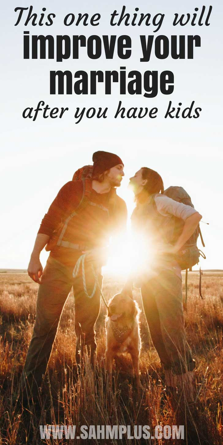 Strengthen your relationship after kids by learning to share common interests with your spouse. | www.sahmplus.com