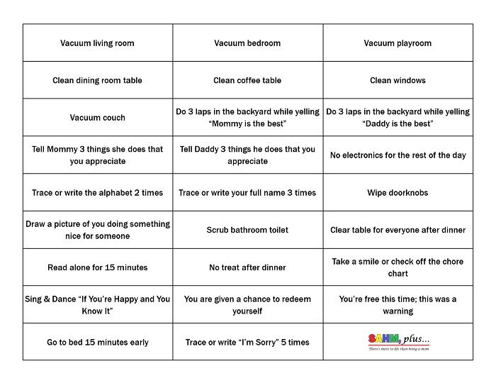 Consequence Jar Ideas And Free Printable For Your Consequence Jar