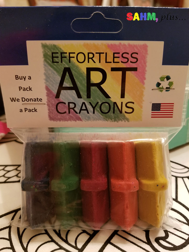 Ecofriendly toddler crayons in Ecocentric Mom Subscription Box