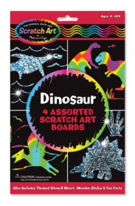 dinosaur scratch art boards
