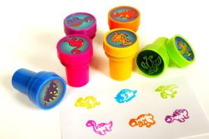 dinosaur self inking stamps