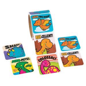 roll of dinosaur stickers