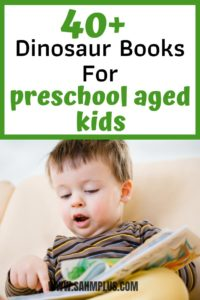 Over 40 fun dinosaur books for preschool aged kids for reading aloud to toddlers and Kindergarten children who love dinosaurs