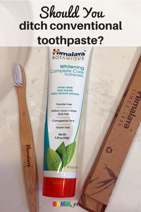 Should you ditch conventional toothpaste? If you're concerned about the fluoride controversy or are afraid of it and other toxic chemicals in your toothpaste thanks to health issues, the answer is yes. I'm testing Himalaya Botanique Complete Care Toothpaste thanks to #MomsMeet #ad