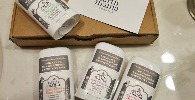 Earth Mama Organics deodorant 4 pack mini styled | www.sahmplus.com