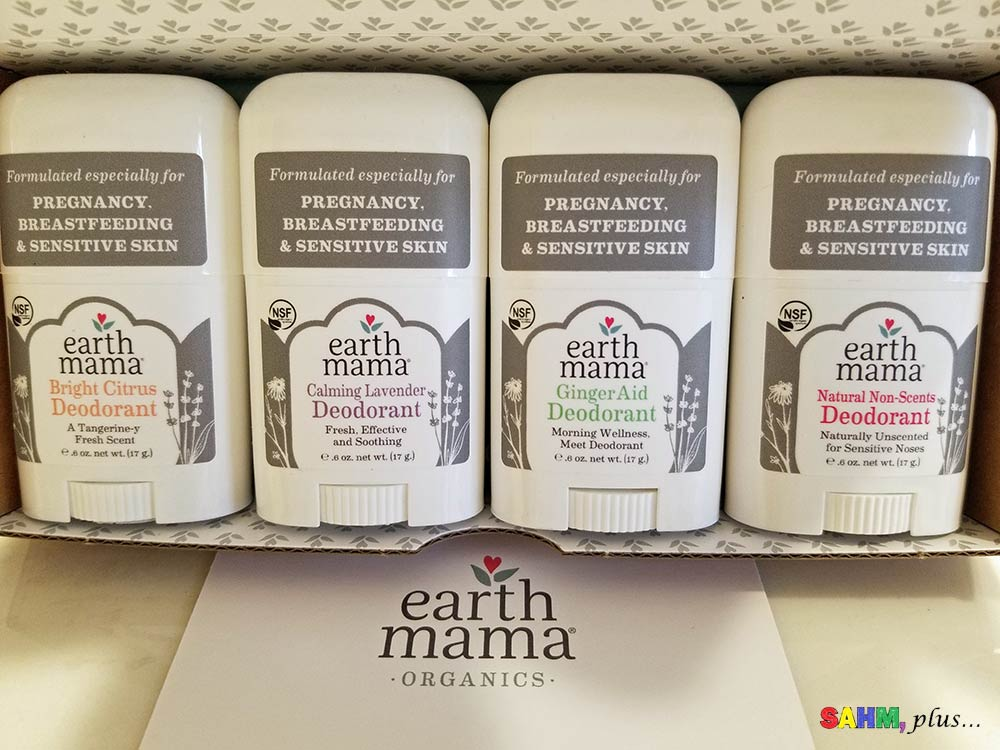 Box of Earth Mama Organics deodorant 4-pack mini | www.sahmplus.com