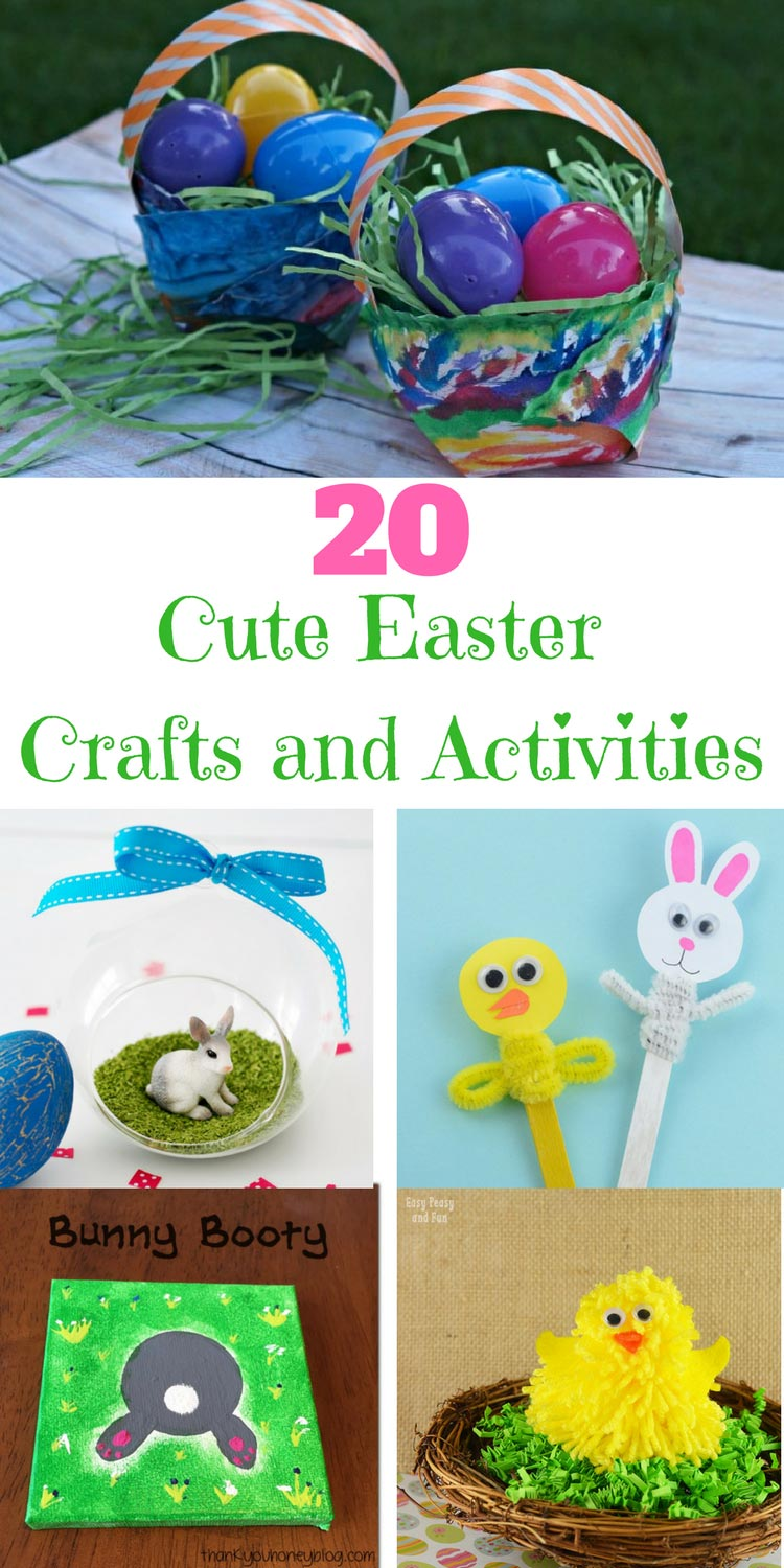 20 adorable Easter Crafts and Activities the kids are sure to love
