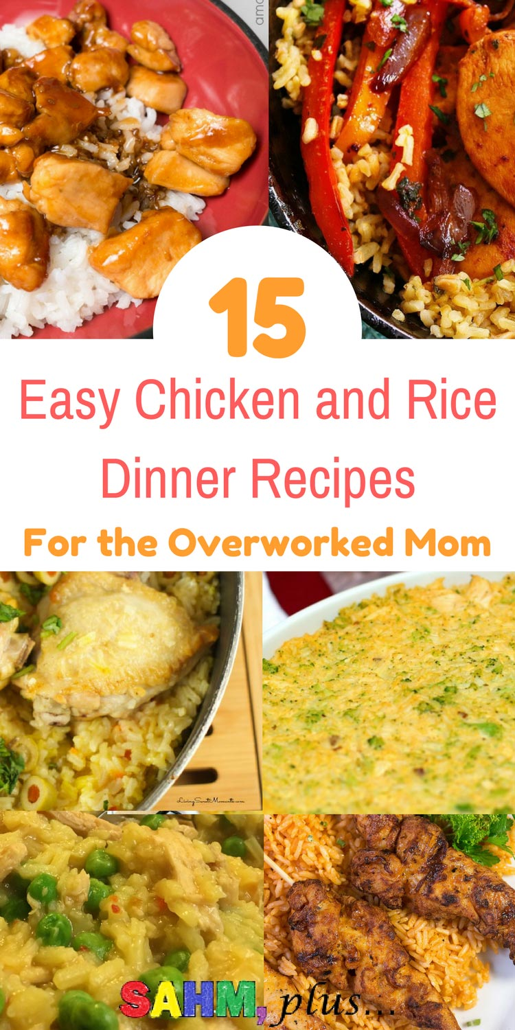 When you're tired or overworked and take-out isn't an option, check out these 15 easy chicken and rice dinners sure to please your family