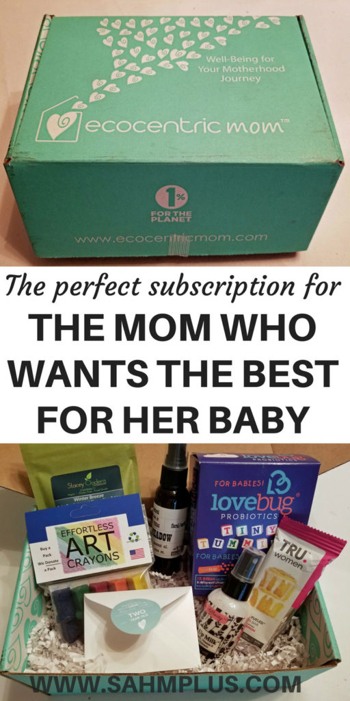 Ecocentric Mom Box - subscription box for mom and her bump or baby's well-being | www.sahmplus.com