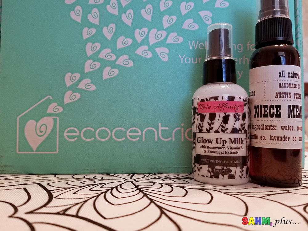 Pampering items in my Ecocentric Mom Subscription Box | www.sahmplus.com