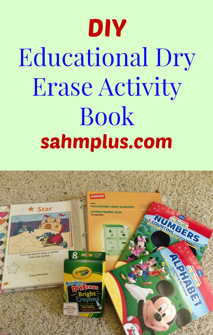 DIY educational dry erase activity book