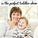 Toddler and mom sit on couch with remote - a pinterest image - 4 reasons Ellie Explorer is the perfect toddler show   www.sahmplus.com