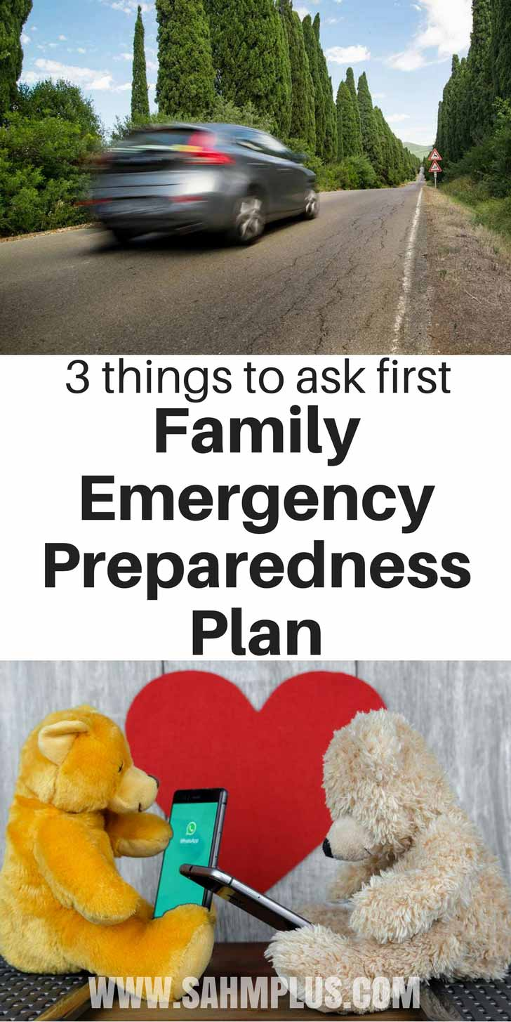 3 topics to discuss before making an emergency preparedness plan for your family.