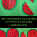 felt watermelon seed counting activity for preschoolers