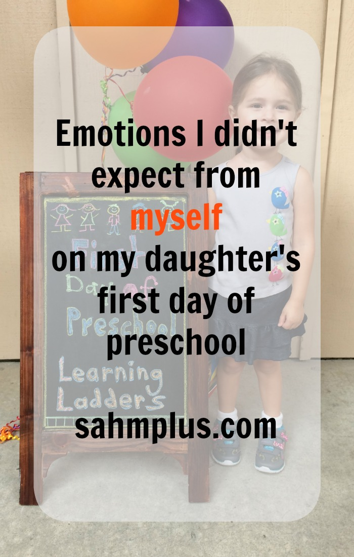 emotions on the first day of preschool