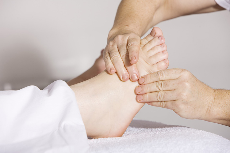 Foot massage. A spa day is a great gift idea for moms