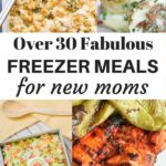 Whether you're looking for meal train ideas for mom-to-be or you're trying to prepare for your new baby, you'll love these freezer meals for new moms. These are great make ahead freezer meal options. From make ahead casseroles to crock pot freezer meals, there's surely a make ahead meal mom will enjoy.