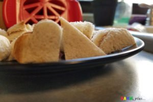 Close up shapes using the FunBites food cutters for kids | www.sahmplus.com