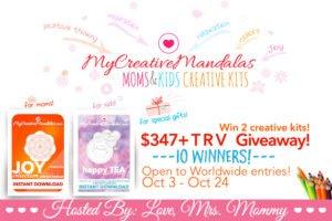 My creative mandalas moms & kids creative kids giveaway   www.sahmplus.com
