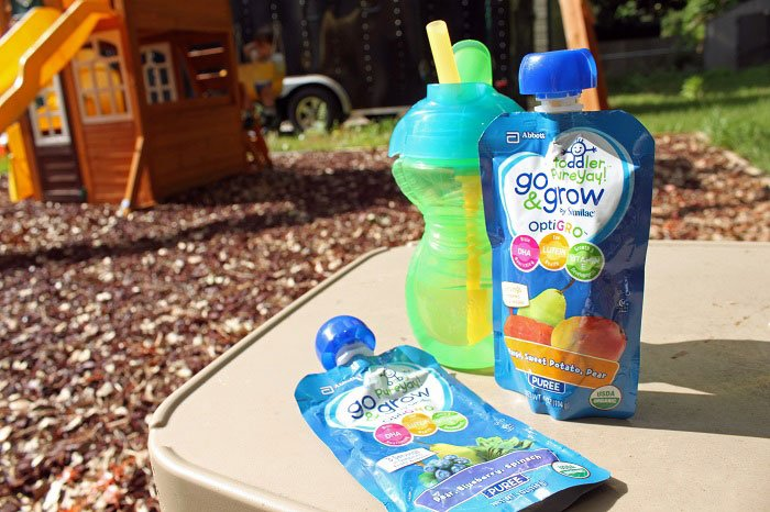 On the go healthy nutrition for a picky toddler ... Go & Grow by Similac pouches   www.sahmplus.com