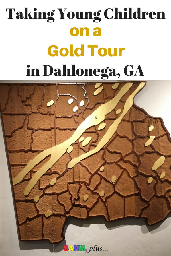 Taking kids on a gold tour with the Gold Fever Package in Dahlonega, GA. 3 stops include a gold museum and 2 gold mines, gold panning, and gem mining. Half a day family adventure in Dahlonega | www.sahmplus.com sponsored post