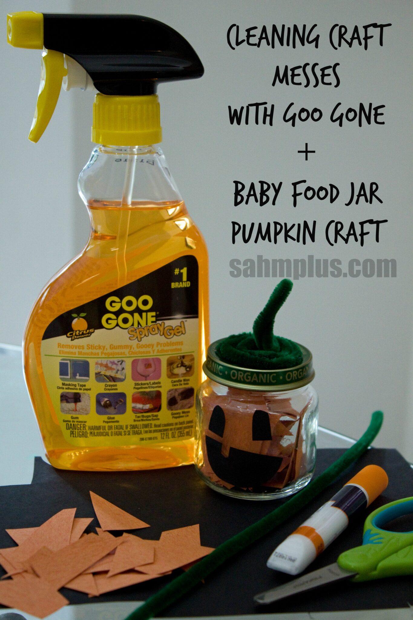 goo gone baby food jar pumpkin craft