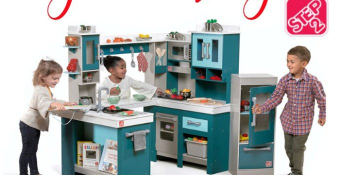 Step2 Grand Walk-In Wood Kitchen + Accessories Giveaway - a play kitchen is the perfect addition to your child's playroom | www.sahmplus.com