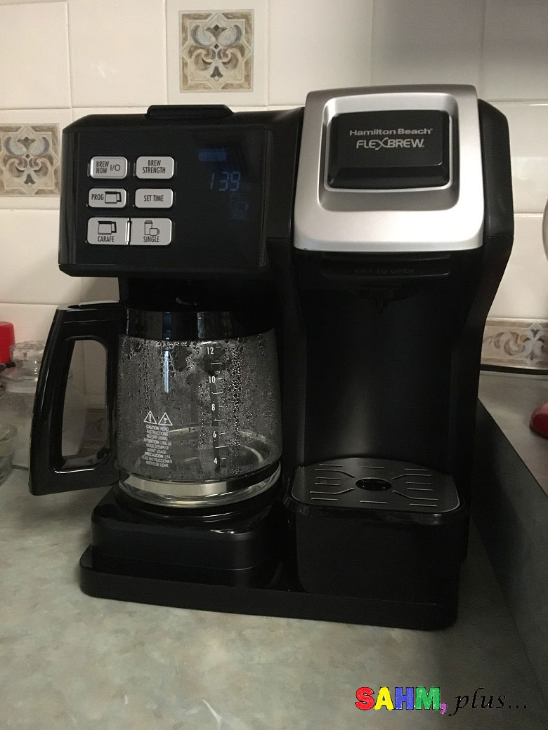 This Hamilton Beach FlexBrew was the best of the Keurig Alternatives for my needs | www.sahmplus.com