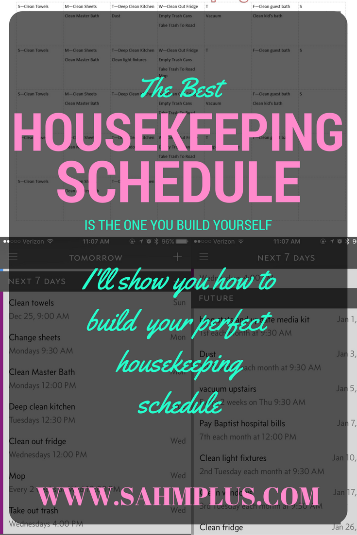How to build the best housekeeping schedule