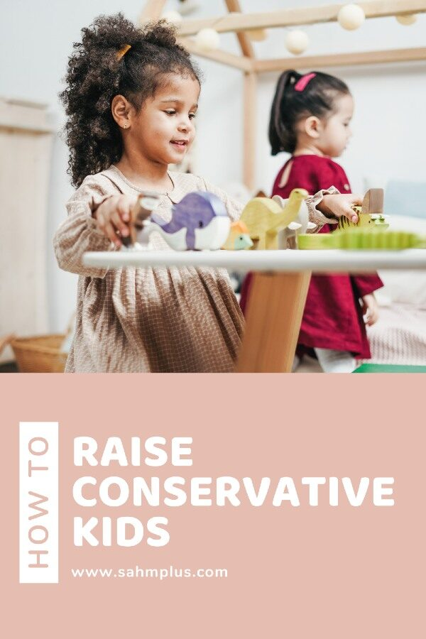 Kids playing for topic on how to raise a conservative child