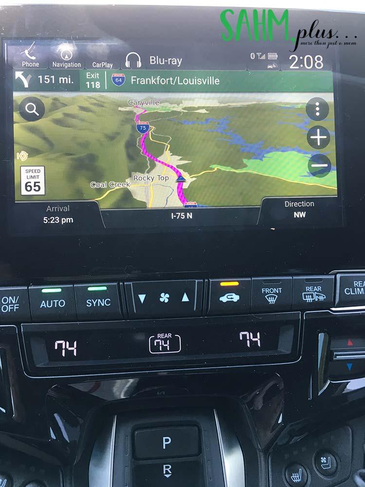 Honda Odyssey Navigation to Kentucky