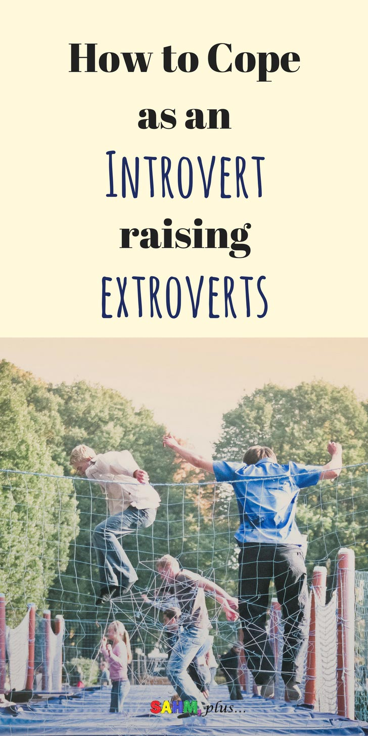 How to raise an extroverted child when you are an introvert! A few suggestions for providing for your child's social needs while caring for yourself | www.sahmplus.com