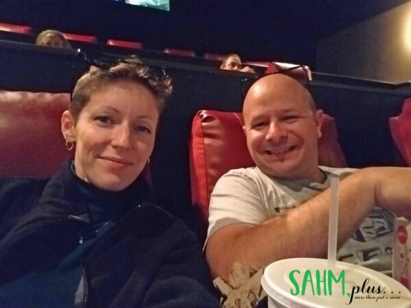Ivy with husband out to see a movie on date night without kids | sahmplus.com