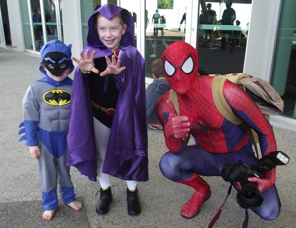Jenni's little superheroes in costume