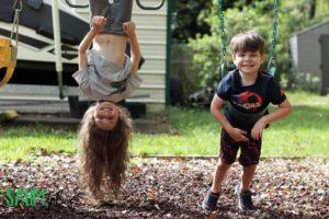 kids outside social distancing during coronavirus outbreak