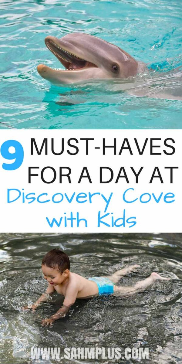 What to pack for a day with kids at Discovery Cove, Orlando | sahmplus.com