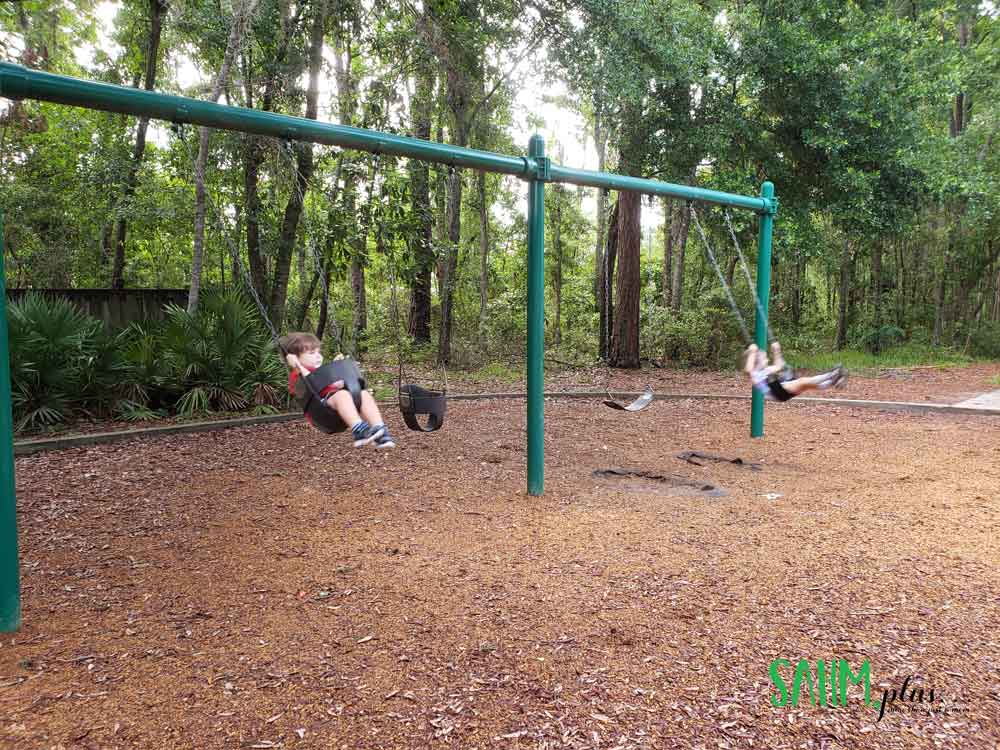 What toddler doesn't love swinging in the backyard? | www.sahmplus.com