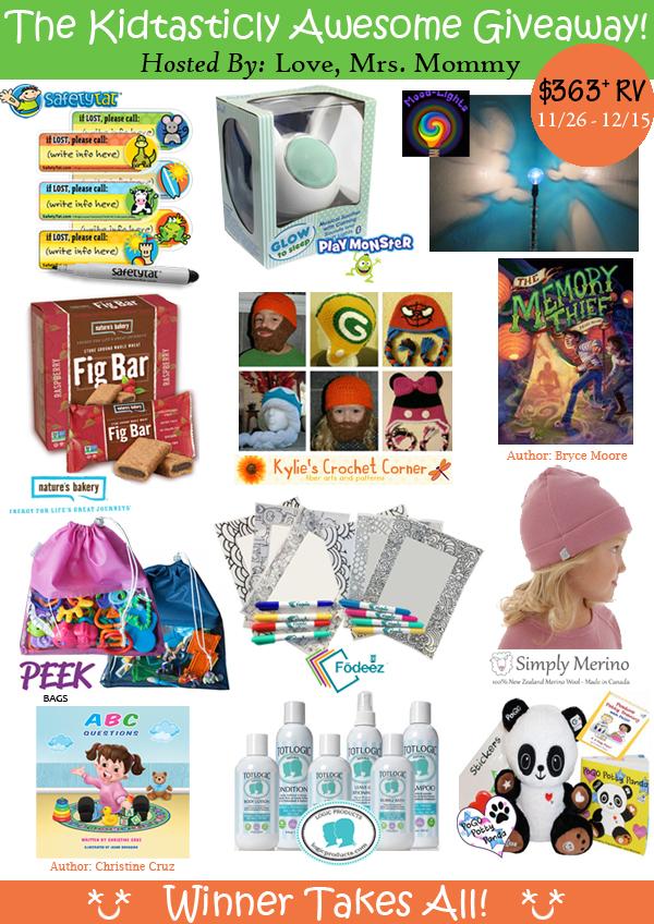 Kidtastic Kid Stuff Giveaway ends Dec 15, 2016 | SAHM, plus...
