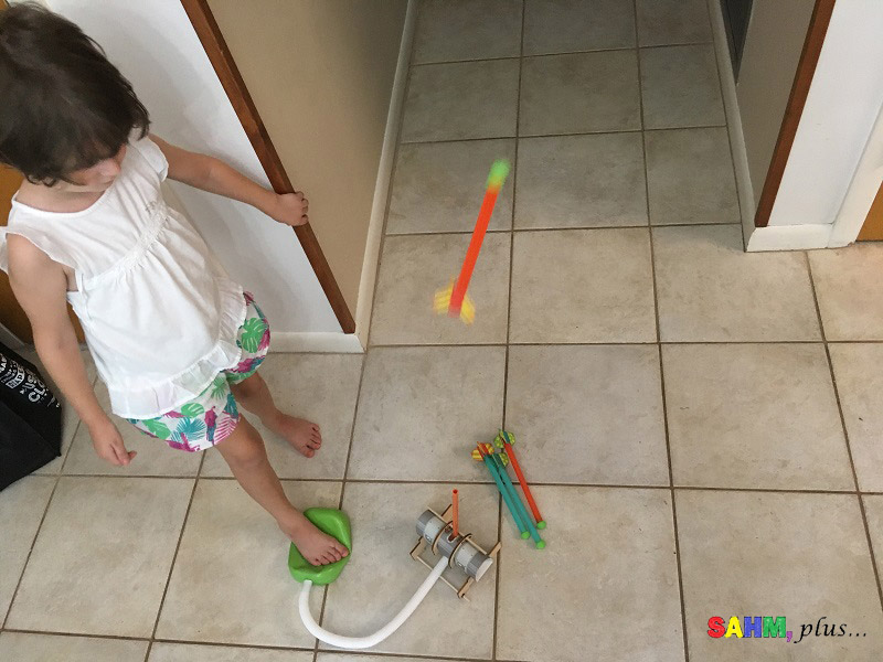 non-toy gift ideas for kids - S built a rocket launcher from one of her Kiwi Crate educational subscription boxes www.sahmplus.com