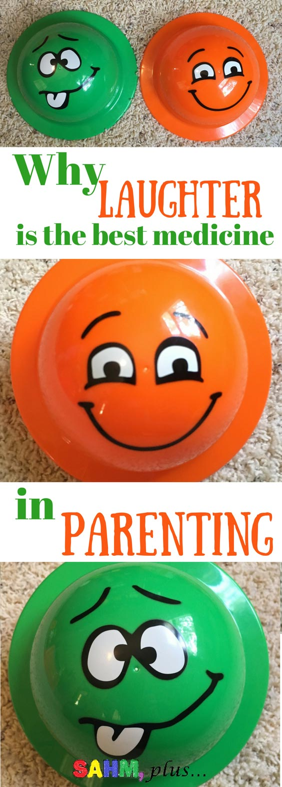 Lighten up mom! I know parenting is serious business, but laughter is the best medicine. Why and how to incorporate laughter into your parenting for a happier and healthier family!