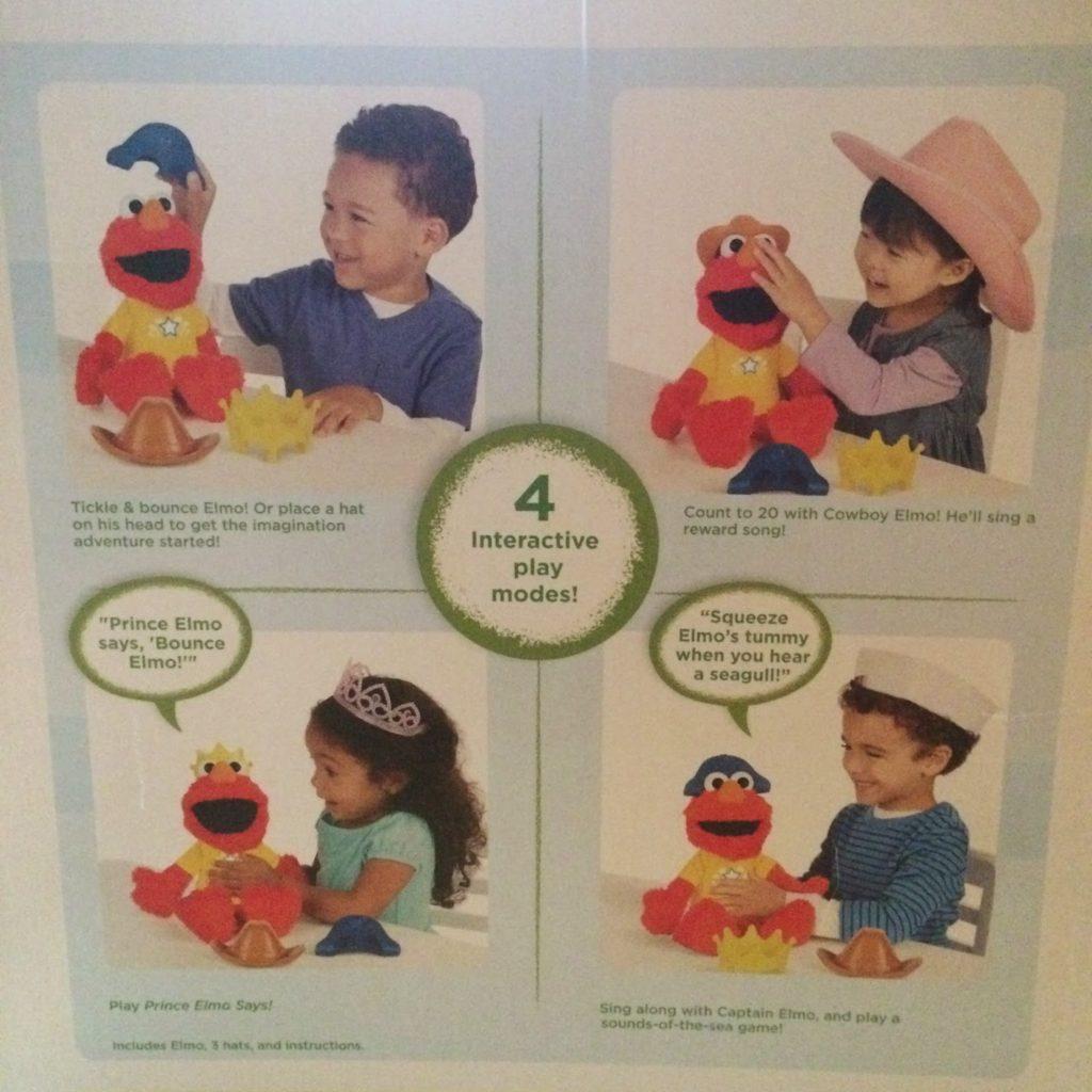 Let's Imagine Elmo back of box
